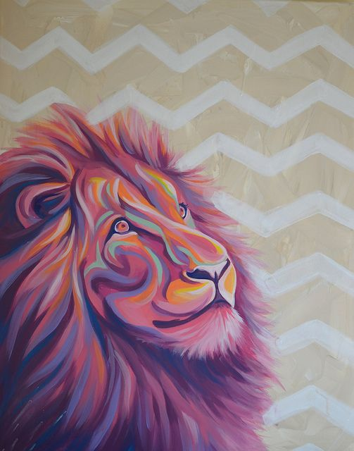 i would love this in a future office space... Pink Lion I Love This Lion