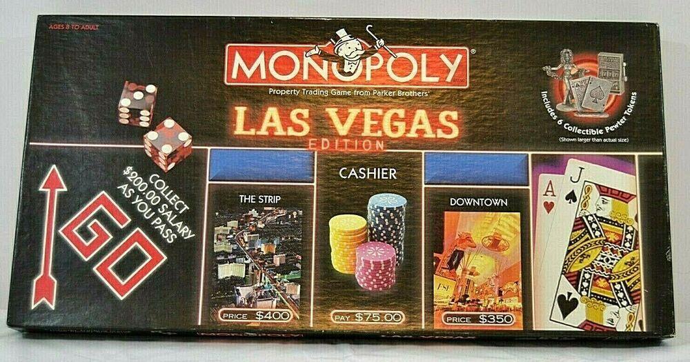 Monopoly Las Vegas Edition 2000 Hasbro Complete Hasbro