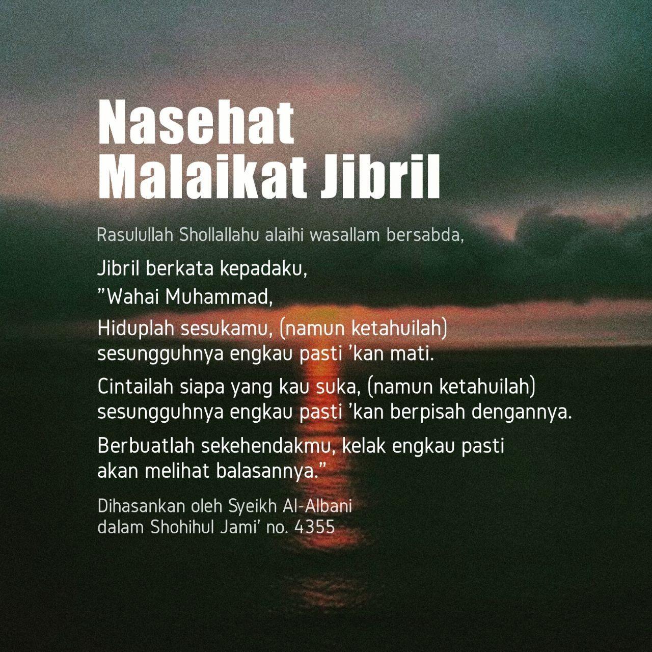 Pin Oleh Willasmara Di Islam Motivasi Malaikat Jibril Kutipan
