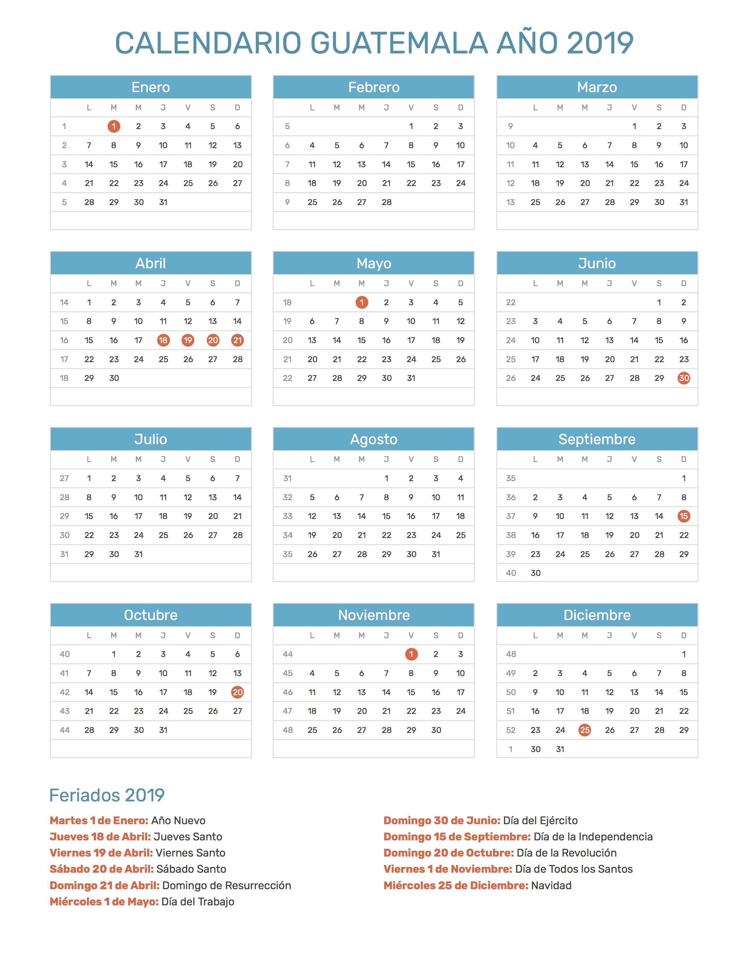 Calendario 2019 Chile Con Feriados Para Imprimir.Pin De Calendario Hispano En Calendario Con Feriados Ano