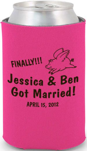 totally wedding koozies funny finally married wedding design amountprice each 25 187