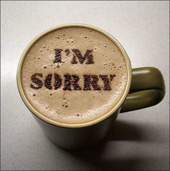 "Are you Sorry all the Time?  I read an article today that made me aware how often I apologize...sometimes for no reason except habit!  How many times do you say ""I'm sorry"" daily?"