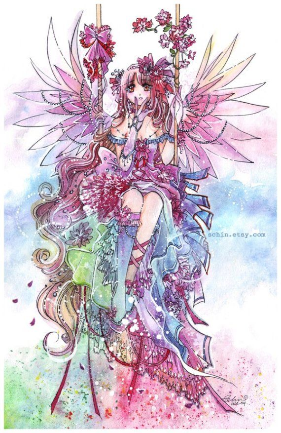 Rainbow Fairy anime manga kawaii angel sweet lolita art by schin ...