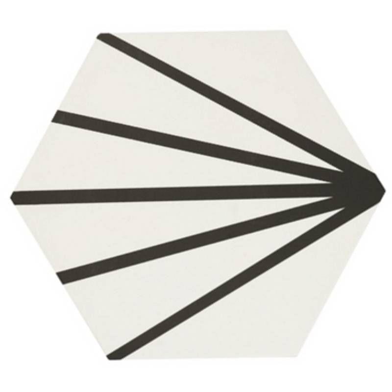 Carrelage Hexagonal Design Vintage Mat A Motif Noir