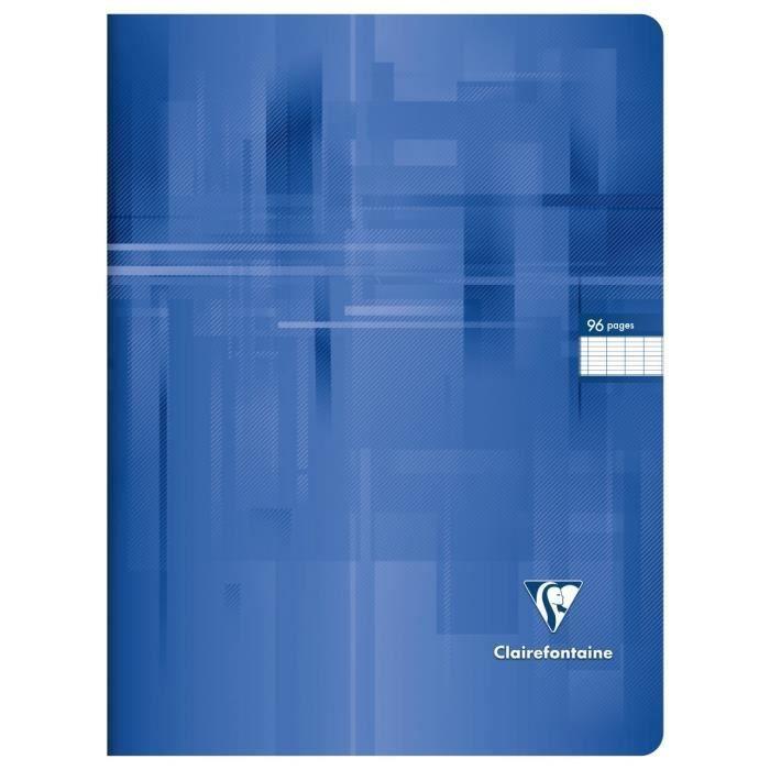 CLAIREFONTAINE – Carnet de notes – 24 x 32 – 96 pages Seyès – Couverture pelliculée – Couleur bleu   – Products