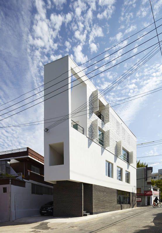 모서리집 : Modern houses by 스마트건축사사무소