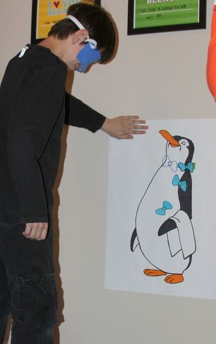 Pin the bow tie on the penguin... And other Mary Poppins party ideas
