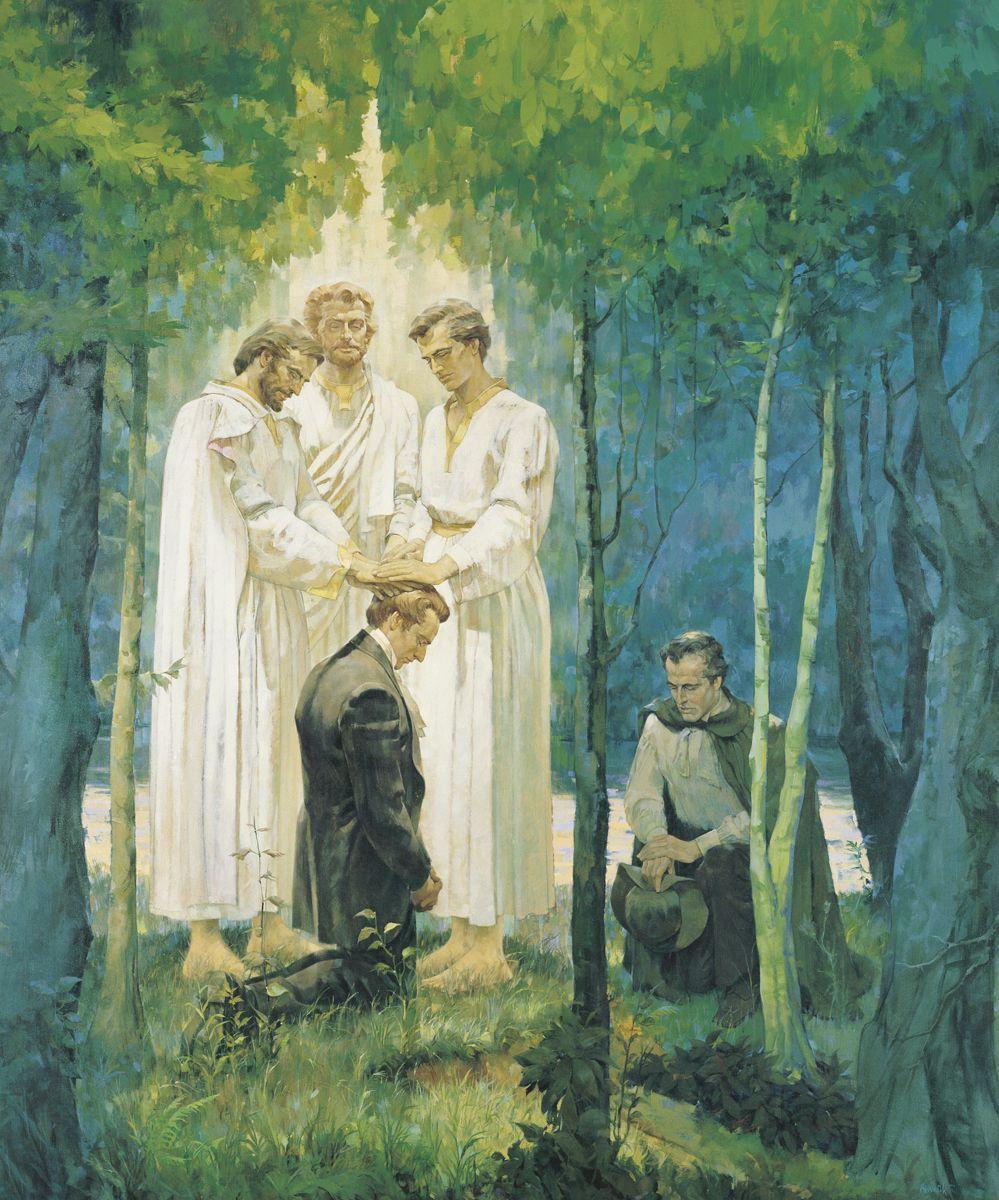 Pedro, Santiago y Juan confiriendo el Sacerdocio de Melquisedec a ...