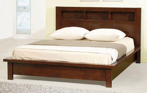 Best Creighton Contemporary Bedroom Queen Size Walnut Cherry 640 x 480