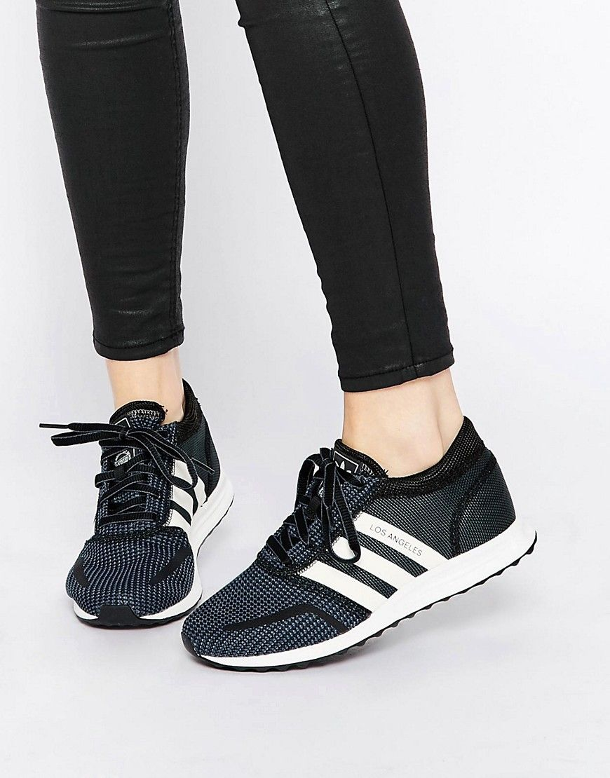 adidas Originals Black & White Los Angeles Trainers | Shoes ...