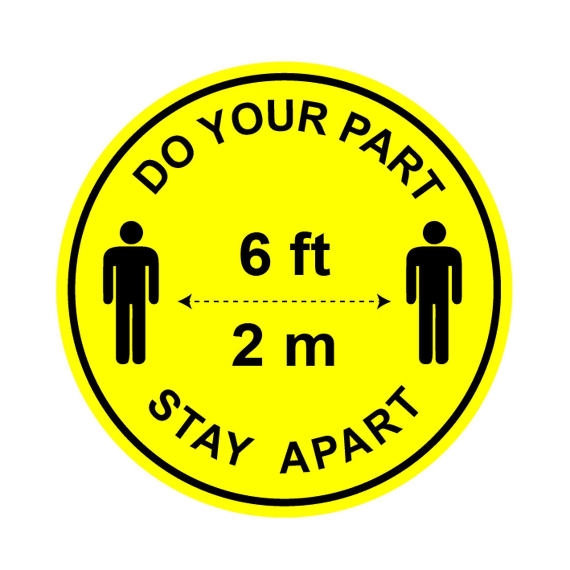 Social distance stickers Social distance floor decals