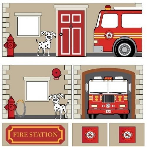 Dorel Home Products Curtain Set For Junior Loft Bed Fire Department