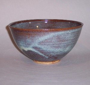 Speckled Blue Chip and Dip Stoneware Ceramic Serving Bowl Kitchenware Handmade Pottery Hand Painted Hand Thrown Entertaining B0004