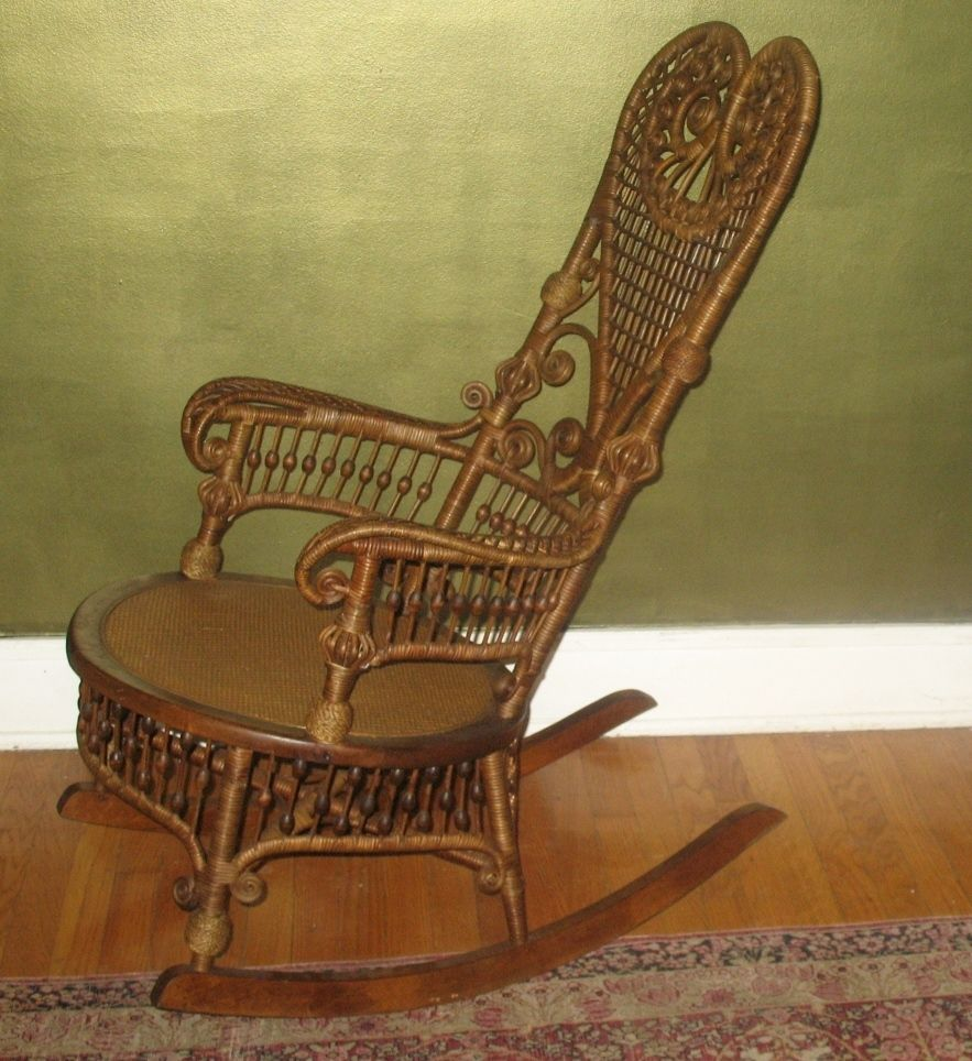 Victorian rocking chair - Antique Victorian Heywood Wakefield Rocking Chair C 1890 Ex Cond Ebay