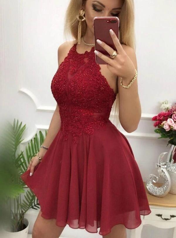 2019 Hoco dress ,Short Prom Dress, Fashion Homecoming Dresses , YDH0115