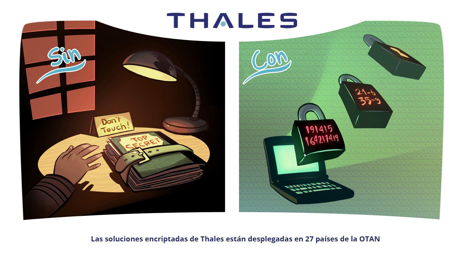 Las soluciones encriptadas de Thales están desplegadas en 27 países de la OTAN.