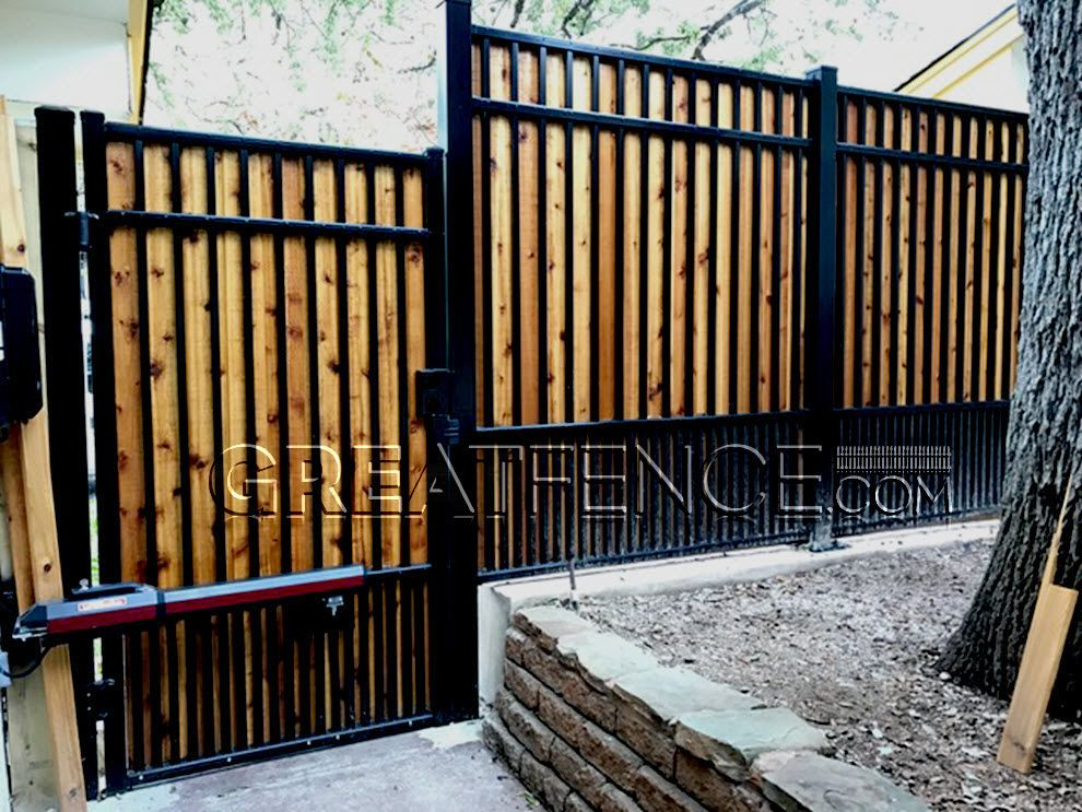 Add Your Own Wood Planks To Our Aluminum Fencing For 100 Privacy
