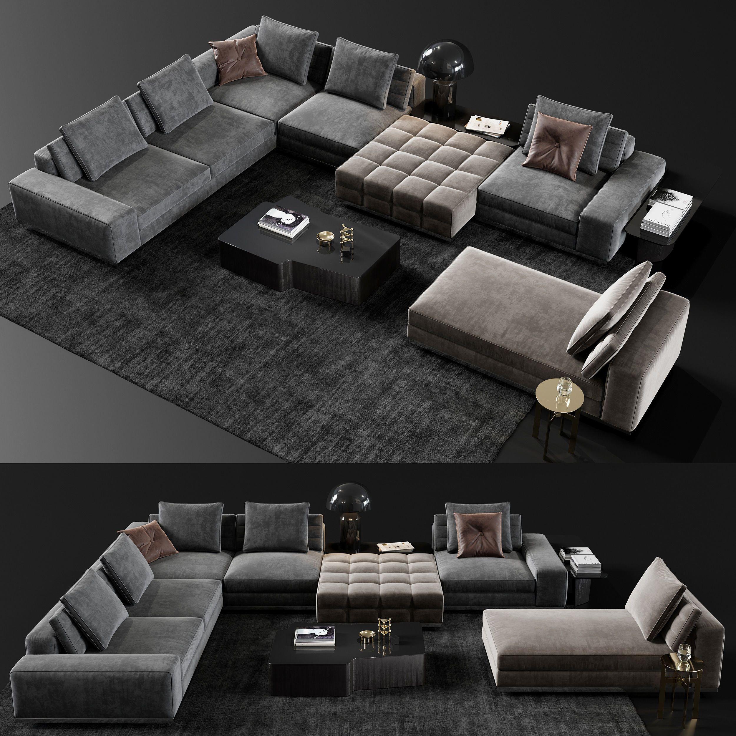Minotti Lawrence Living Room Sofa Set 3d Model Luxury Sofa Design Living Room Sofa Set Modern Sofa Living Room Living room sofa furniture