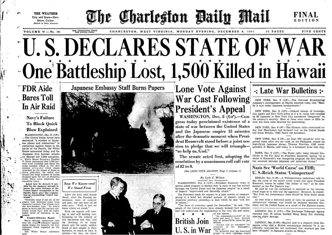 Image result for pearl harbor newspaper