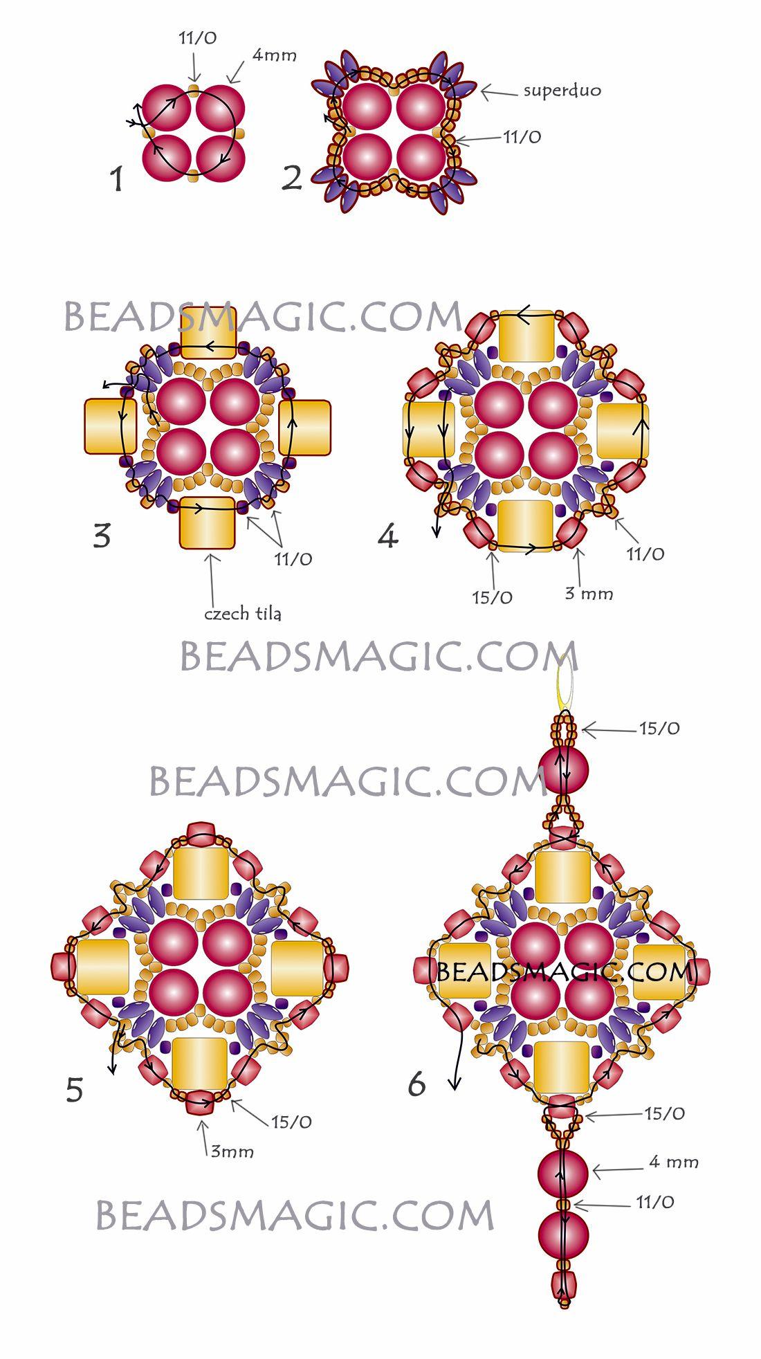 Free Pattern For Earrings Kira Beaded Jewelry Patterns Beaded