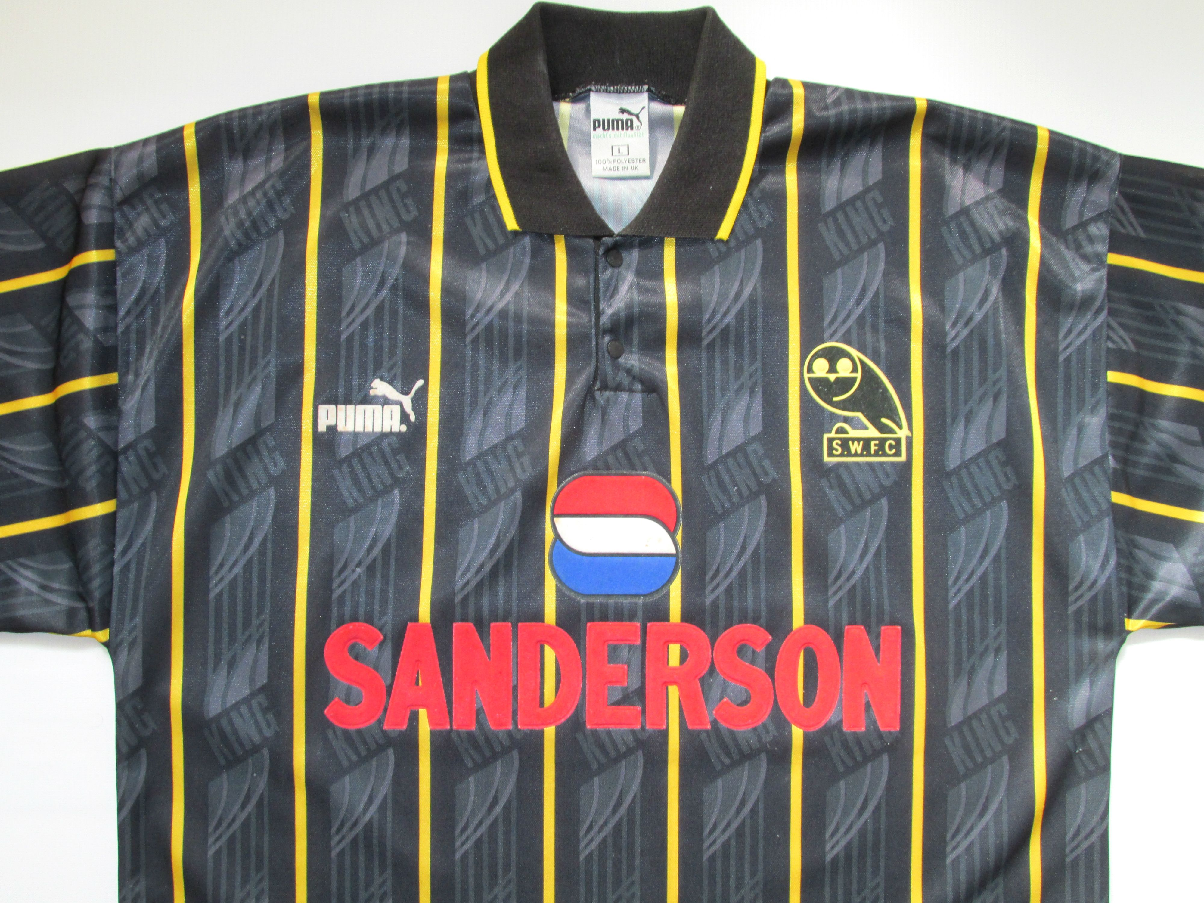 1f2651a9386 Sheffield Wednesday 1993 1994 1995 away football shirt by Puma SWFC  Sanderson retro vintage 90s jersey soccer  sheffield  sheffieldwednesday   swfc  retro ...