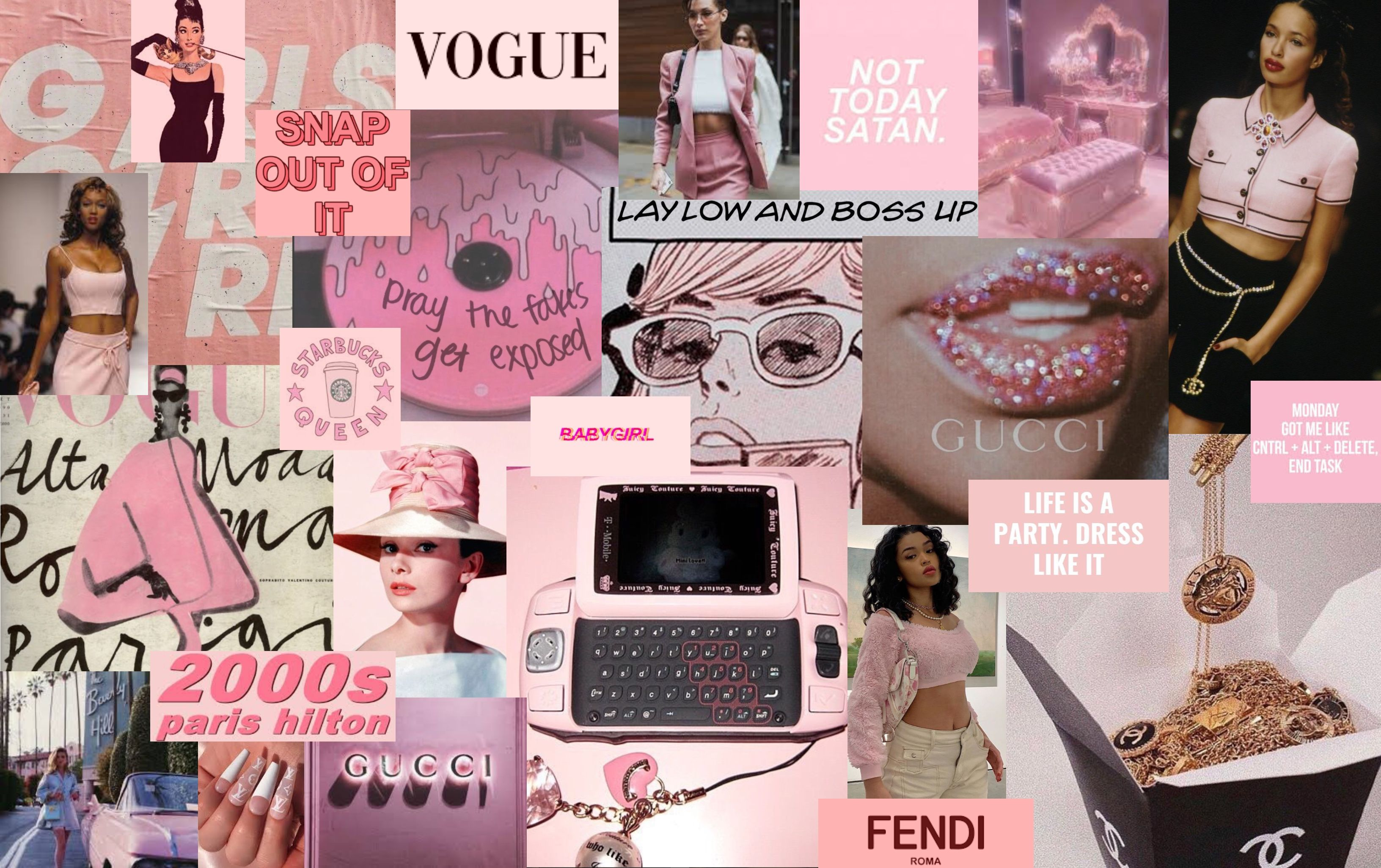 Wallpaper Aesthetic Pink Laptop