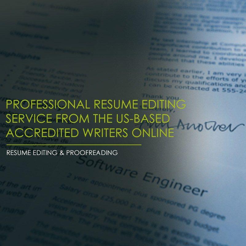 ResumePundits Resume Editing can help you refine and