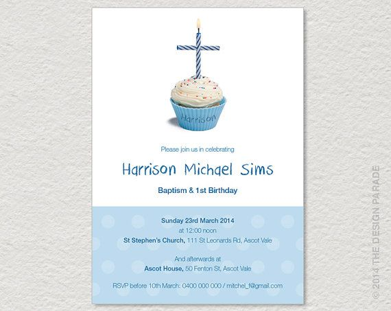 Printable invitation for joint christening baptism and birthday printable invitation for joint christening by thedesignparade filmwisefo