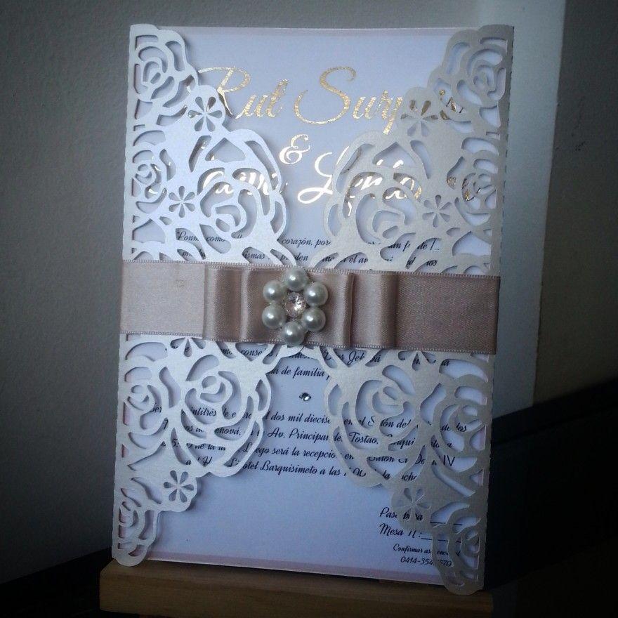 Hermosa tarjeta de invitaci n para boda o matrimonio - Disenos tarjetas de boda ...