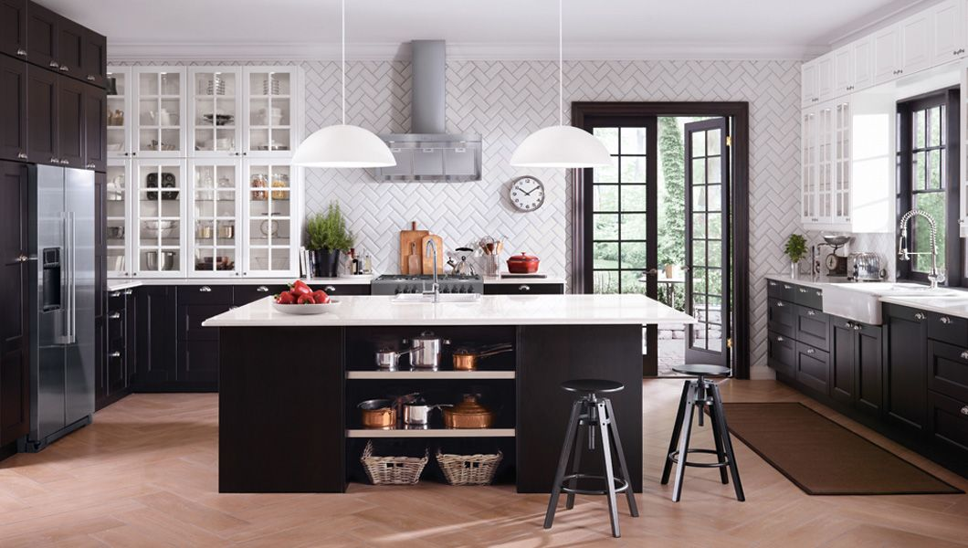 Ikea Kitchen Cabinets Black ramsjÖ black-brown kitchen akurum/ramsjÖ kitchen what's included