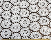 Bridal Guipure Lace Fabric White Venice Lace Fabric - Grace by the yard- 1 Yard Style 2424