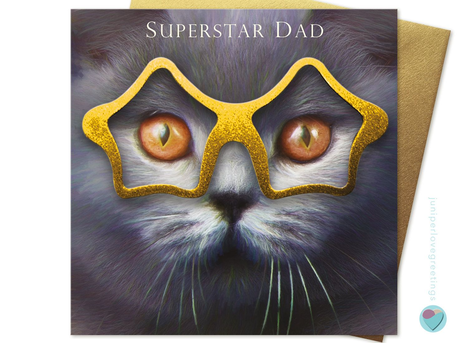 Father/'s Day Card Cat Any Occasion to or from British Blue Shorthair Cat Lover
