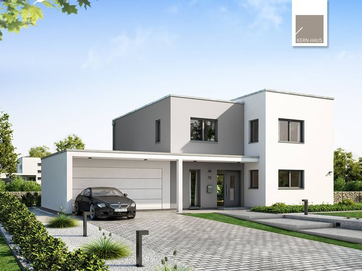 Bauhaus Stadtvilla Modern Mit Flachdach Architektur