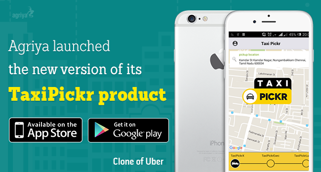 Agriya Enhances its Taxi pickr Taxi, Uber, Iphone apps