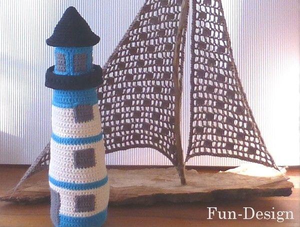 Leuchtturm - Häkelanleitung   amigrum   Pinterest   Leuchtturm ...