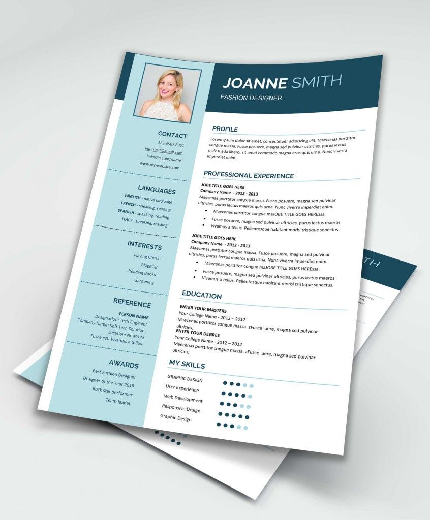 Modern Resume Template MS Word Free Design