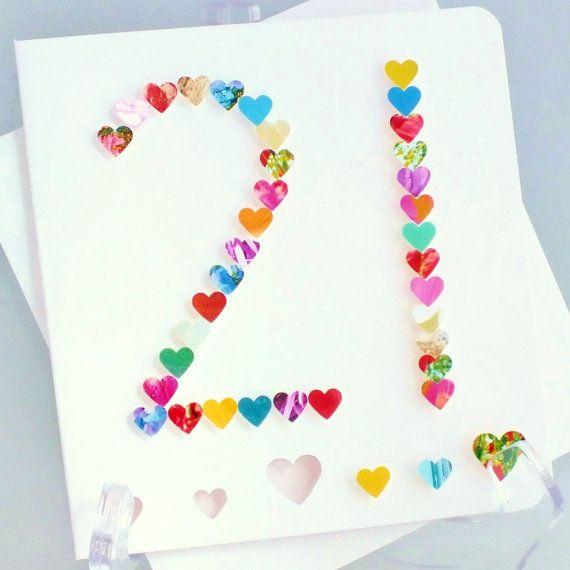 21st Birthday Card Personalised Age 21 Card Multi Coloured Etsy In 2021 21st Birthday Cards Birthday Cards Diy Birthday Cards