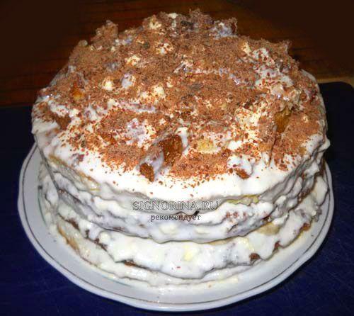 Сметанный торт фото пошагово