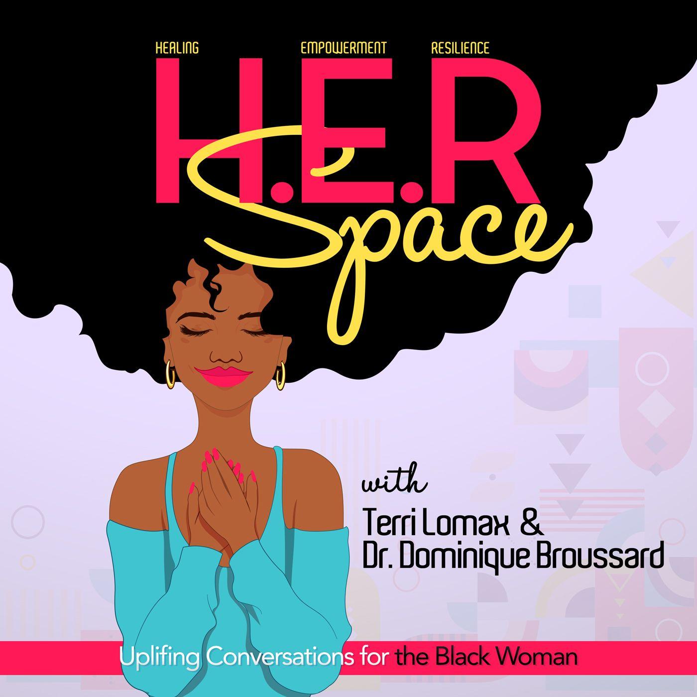 Black Podcastlogo: Her Space Podcast Artwork Designed By Gizdesigns, Fiverr