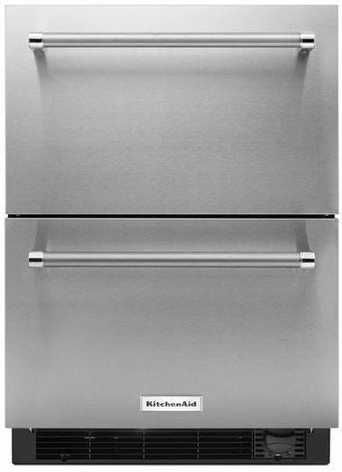 Kudf204esb Kitchenaid 24 Refrigerator Freezer Drawer With Automatic Icemaker St Freezerless Refrigerator Refrigerator Drawers Stainless Steel Refrigerator