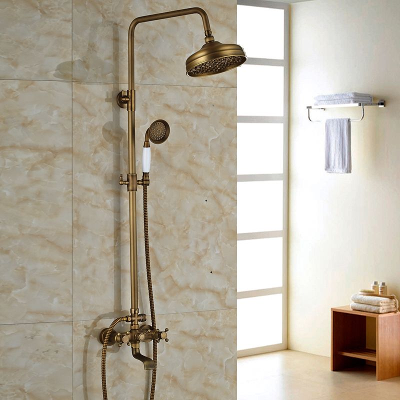 $91.20 | Buy Modern 6 model Bathroom Surface Mount Brass Rainfall ...