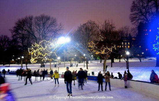 Must Do 3 Ice Skating In December On Frog Pond In Boston Common