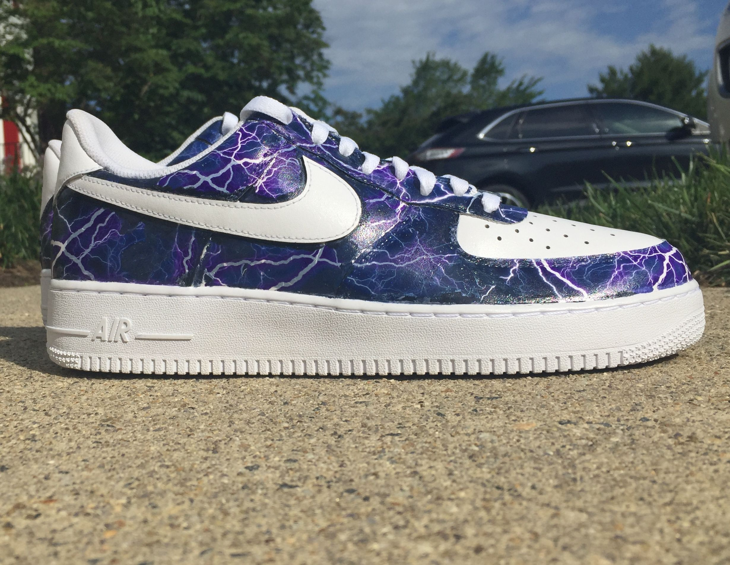 Hydro dipped custom Air Force 1 Sneakers fashion, Custom