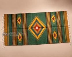 Mexican Zapotec Indian Rug 30x60 123