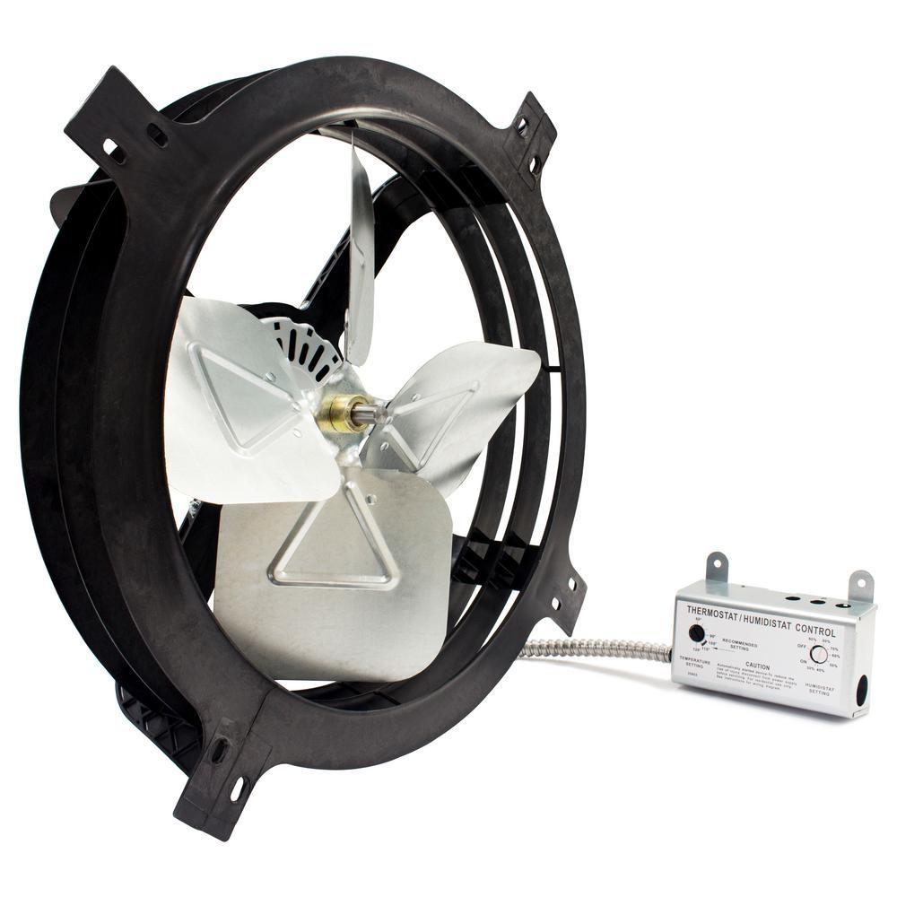 Air Vent 1620 Cfm Mount Powered Attic Gable Fan Apgh Gable Vents