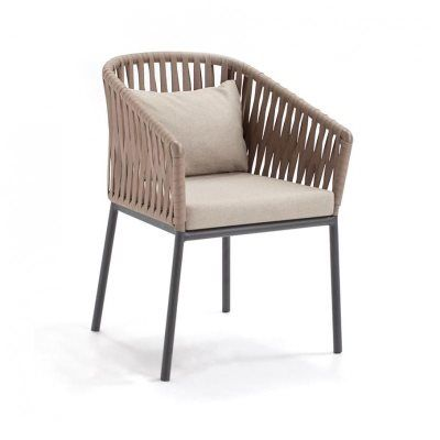 Bitta Braided Modern Outdoor Dining Chair