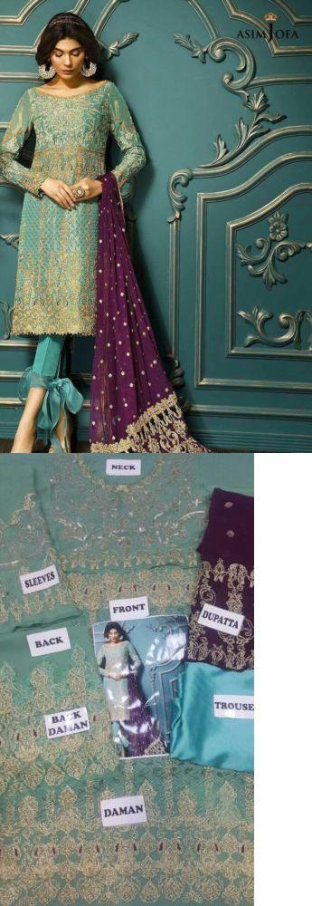 Salwar Kameez 155249: Pakistani Designer Asim Jofa 2017 New Collection Salwar Kameez, Maria B, -> BUY IT NOW ONLY: $65 on eBay!