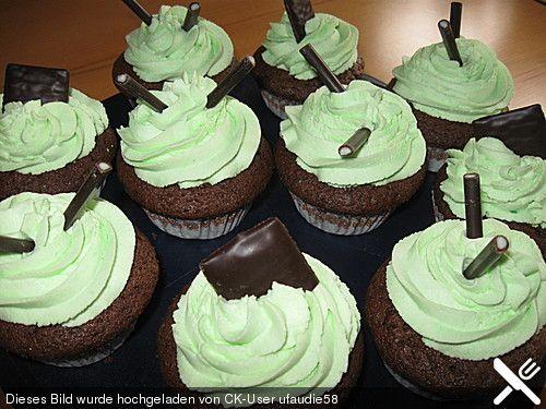 Schoko-Pfefferminz-Cupcakes #cupcakesrezepte