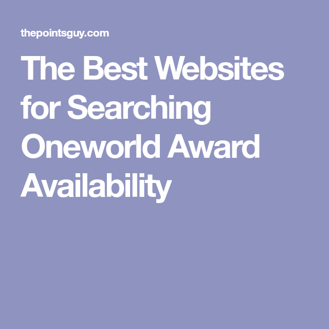 The Best Websites for Searching Oneworld Award ...