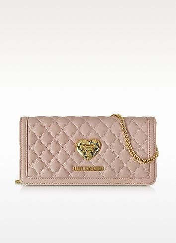 LOVE MOSCHINO QUILTED WALLET ON CHAIN. #lovemoschino #bags